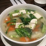 Glass noodle in a tofu soup