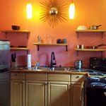 Our little kitchenette. Everything has Caribbean colors. We made use of all the options.