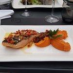 Pavé de saumon et ses petits légumes