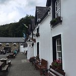 Outside the Glenmalure Lodge