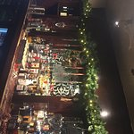 Christmas spirit!  Great restaurant area downstairs!