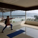Yoga room on top enclosed and Airco