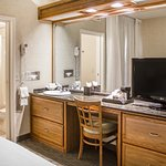 Suite Bedroom Vanity and Bathroom