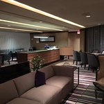 Club Lounge, notice little food options