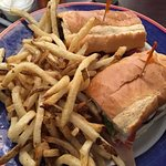 Classic sub sandwich with fries