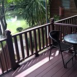 Front porch to lake