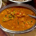Madras mixed vegetables - yum!