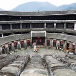 View from the 3rd floor of inside of a Fujian tulou