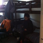 the shared 4 bed bunk room