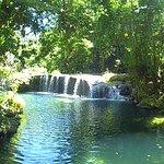 The falls and the main pool at Rarru.
