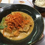 Surendra's yasai curry, too anise-y