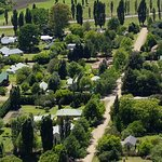 View of the location of the B&B in Clarens. Millpond House is in the middle