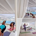 Yoga lesson in Ananda Shala
