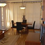 Separate dining area if you want to invite friends.