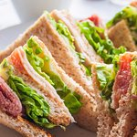 Our delicious sandwiches, served on white or wholegrain bread with salad and our creamy coleslaw