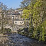 Our Tea Room Terrace overlooks the beautiful river in the centre of Hebden Bridge.