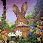 Part of our beautiful rabbit mural.