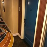 The blue guest room doors are a very nice brilliant blue. The color is not a hue found in the ca