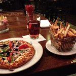 Pizza chips and beer - $21.25 - or $25 with tip