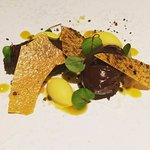 Chocolate and passion fruit delice