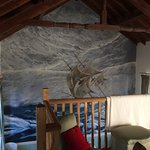 View of the wall painting from the bedroom mezzanine