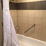 Tub - Needs maintenance - moldy grout and chipped.
