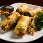 Our Famous Filet Mignon Spring Rolls with Soy Sesame Dip