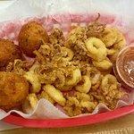 Fried calamari basket.