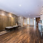 Entry into our modern award-winning design lobby