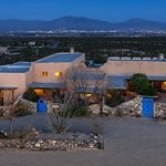 aerial view of the B & B, with views of the Rio Grande River Valley & Franklin Mountains of El P