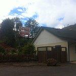 The motel next door
