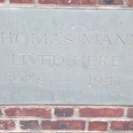 Thomas Mann's nameboard in front of his ertwhile residence