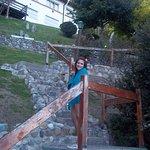 Escalinatas que dan al lago