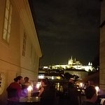View of Prague Castle from terrace