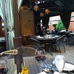 Cafe Via patio dining--open all year