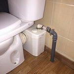WC+triturador de basura+desagüe de ducha = Inundación