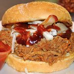 BBQ Pork Sandwich from Rubens Taco Truck (inside Cafe Negril on Frenchmen Street, New Orleans)