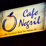 Cafe Negril street sign on Frenchmen Street in New Orleans