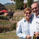 Our Guide Ian & Guest Goldie at Hanrahan Vineyard Yarra Valley