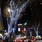 周辺はクリスマス仕様のライトアップになっていて華やかです。