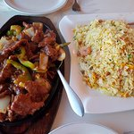 Oyster Beef and special fried rice