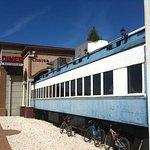 It's a railroad car!