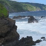 Coastline on the shorter trail