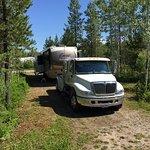 Real big rig friendly pull through site