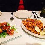 fried calamari and coconut shrimp