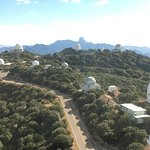 The many Observatories at Kitt Peak. Photo taken from the observation deck of the large Observat
