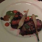 Strip steak, BBQ pork