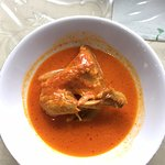 Chicken with red sauce