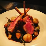 Rack of Somerset lamb and baby vegetables