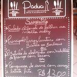 Cardápio Restaurante Pádua